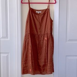 NWT Loft burnt orange babydoll dress (L)
